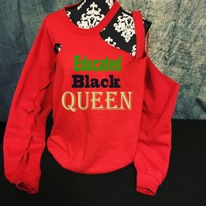 Educated black queen sweater